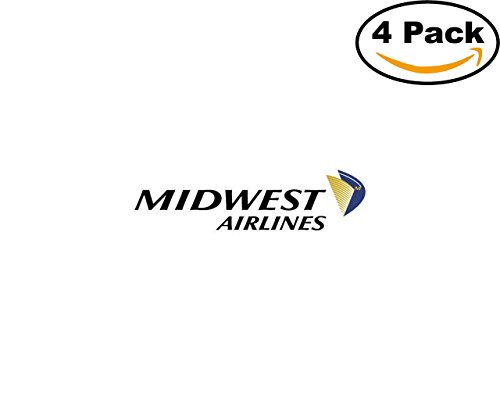 midwest airlines logo 01 4 Stickers 4x4 Inches Car Bumper Window Sticker Decal