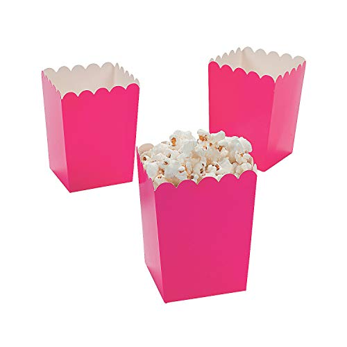 (Oriental Trading Mini Valentine Popcorn Boxes, Hot Pink, 24 Pieces (3/3590))
