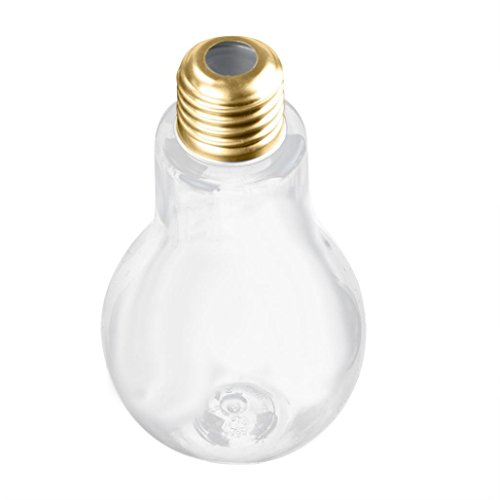 (Hot Sale !Water Cup ,Sunfei New Summer Glowing Bulb Water Bottle Cute Brief Fashion Cute Milk Juice Light Bulbs Cup Leak-proof (A2-400ML))
