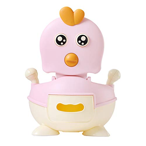 Potty Training Seat for Kids Toddler, Boys Girls Portable Cute Chicken Training Toilet Chair with Comfortable Handles and Splash Guard (Pink)