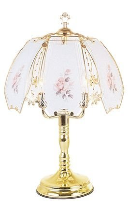 OK LIGHITNG OK-638-W4-SP3 24 in. Pink Rose Touch Lamp