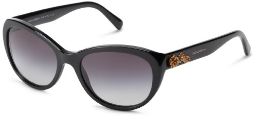 D&G Dolce & Gabbana 0DG4160 501/8G Cat Eye Sunglasses,Black,54 - D&g Sunglasses Eye Cat