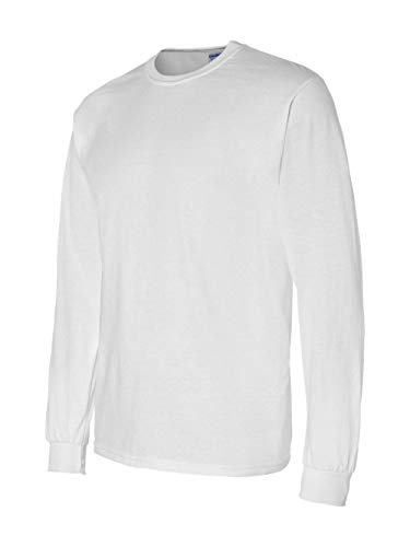 Gildan Men's 5.5 oz., 50/50 Long-Sleeve T-Shirt, White, Medium ()