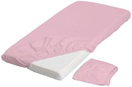 Ikea LEN Spannbettlaken f/ür Babybett in rosa; 2 St/ück