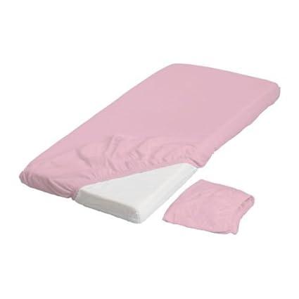 Ikea Len Drap Housse Pour Lit Bébé Rose Paquet 2 60x120 Cm