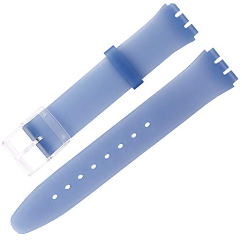 Ultra-Thin Silicone Ladies Watch Band Replacement Swatch Skin Series no Second Watch Strap(16mm)