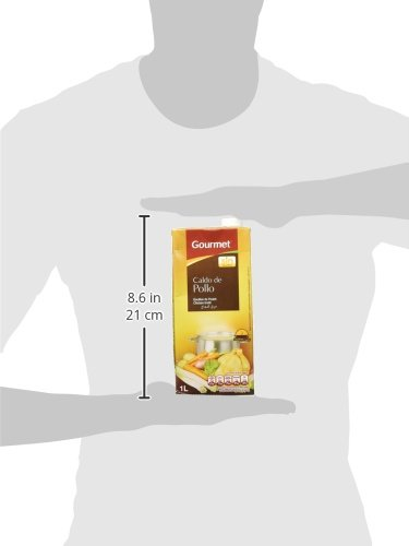 Gourmet - Caldo de Pollo - Calentar y listo - 1 l - [Pack de 4 ...