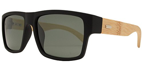 Stylish Bamboo (Eco-Bound Polarized Bamboo Men's Sunglasses (Black))
