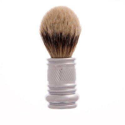 Merkur Barber Pole Silver Tip Badger Hair Shaving Brush