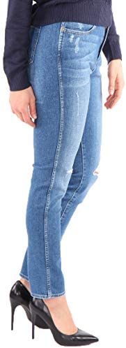 Wrangler Dames jeanbroek Boyfriend Soft Worn Vintage Blauw