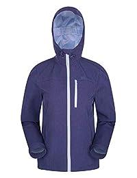 Mountain Warehouse Helsinki Womens Softshell Jacket - Ladies Raincoat Navy 18