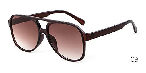 NEW Oversized Pilot Sunglasses Women Tortoiseshell Frame Fashion Aviation Sun Glasses Shades OM788 C9 Dark tea (Aviator Brille Rx)