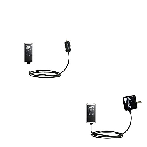 The Essential Gomadic Car and Wall Accessory Kit designed for the Sony Walkman NW-ZX300 - 12v DC Car and AC Wall Charger Solutions with TipExchange