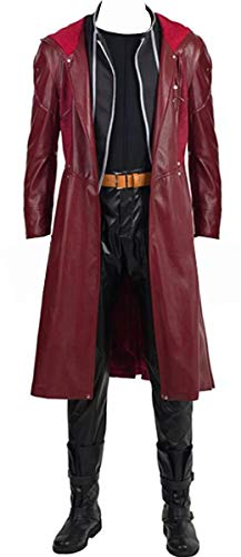 YMCC Fullmetal Alchemist Halloween Costume Edward Elric Cosplay Red Full Suit (L, Red) -