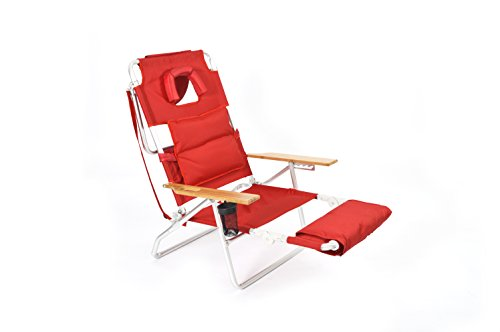 - Ostrich Deluxe Padded Sport 3-in-1 Beach Chair, Red