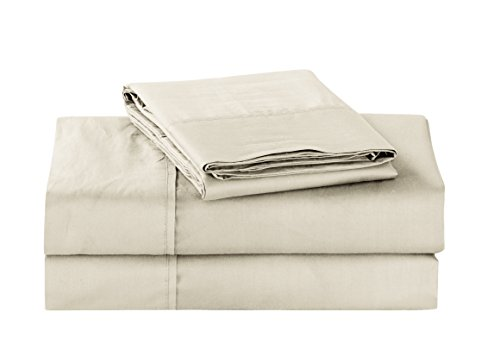 Unique Home Super Soft Microfiber 200 Count Beige Queen Sheets & Pillow Set