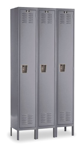 (Premium Stock Lockers - Single Tier - 3 Sections (Assembled) Dimensions (W x D x H): 12