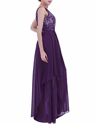 al Mujer Cóctel Boda Noche Aire Vestido Morado Vestido Largo Oscuro Chica Elegante Freebily para de Espalda Graduación OwtqTxvf