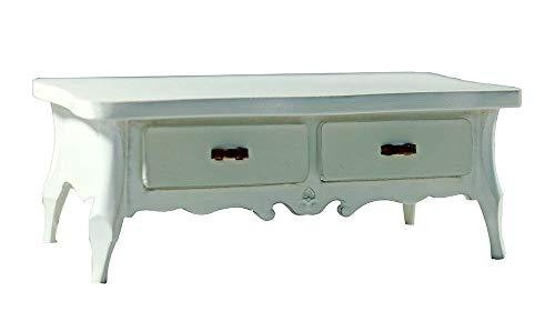 nanguawu 1:12 Miniature White Wooden Dining Tea Coffee Table Kitchen Furniture Dollhouse ()