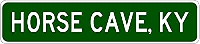 HORSE CAVE, KENTUCKY City Limit Sign - Heavy Duty Quality Aluminum Sign