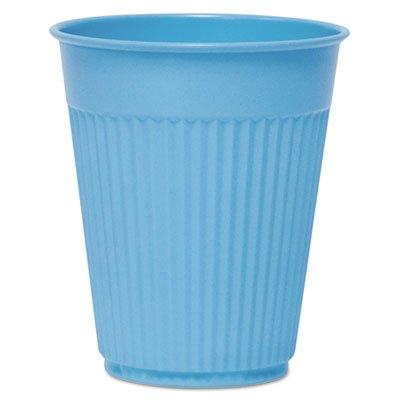 Plastic Medical & Dental Cups, Fluted, 5 Oz, Blue, 100/bag, 25 Bags/carton