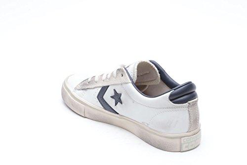 Converse Pro Leather Vulc Ox, Sandalias con Plataforma Unisex Adulto White/navy