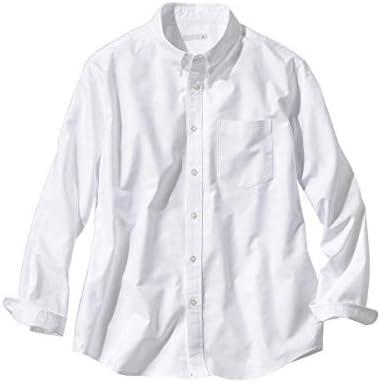 [nissen(ニッセン)] シャツ メンズカジュアル お腹ゆったり綿100%オックス長袖ボタンダウンシャツ