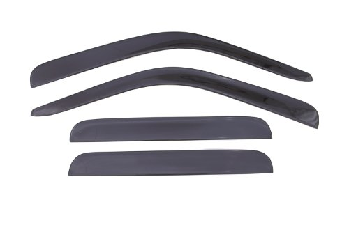 Auto Ventshade 894017 Low Profile Dark Smoke Ventvisor Side Window Deflector, 4-Piece Set for 1999-2016 Ford F-250, F-350 to F-550 Super Duty with SuperCrew Cab