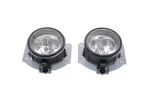1 Pair Left + Right Clear Lens Front Fog Driving Light Lamps With Bulbs 8321A278 Fit for Mitsubishi L200 Triton Pickup 2010-2017