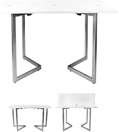 SpaceMaster Expanding Desk and Dining Table, White