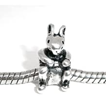 Divine Beads Kangaroo Charm Bead fits Pandora, Chamilia. All purchases from Divine Beads Receive A FREE GIFT with their order.
