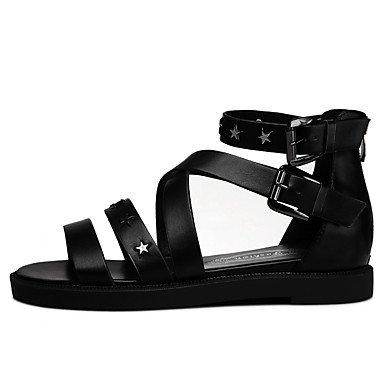 sandalias de casual mujer Plata Boda Negro peep UK6 planos EU39 talón amp;Amp; Carrera Oficina sintéticos FYios CN39 toe vestimenta US8 Zapatos 64xC8wq45A