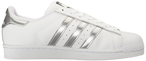 Silver adidas Women's Originals White Metallic Fashion Black Sneakers Superstar rYrpx1