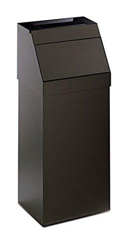 stilcasa Posacenere Gettacarta Pattumiera nero con apertura basculante in Ferro - Dim. 33x23xh78 Stil Casa