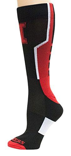 Donegal Bay NCAA Nebraska Cornhuskers Unisex Nebraska Black Sport Socknebraska Black Sport Sock, Red, One Size ()