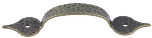 - Hammered Antique Brass Drawer Pull Handle Centers: 3 1/4