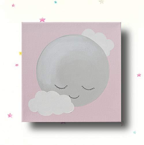 Kinderzimmer Deko Mädchen Bilder Kinderzimmer Leinwand Mond
