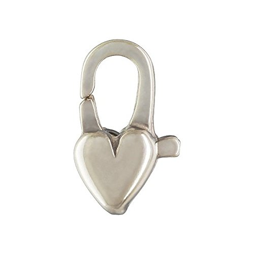 - 4 qty. 5x12mm Heart Clasps .925 Sterling Silver By JensFindings