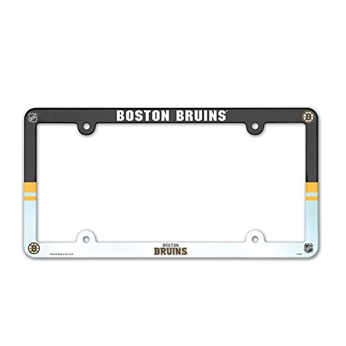 Full Color Plate Plastic License - WinCraft NHL License Plate Full Color Frame, Boston Bruins