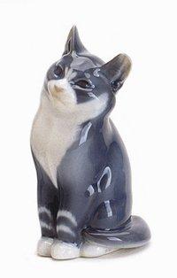 Royal Copenhagen Figurine, Cat, Sitting (Copenhagen Royal Animal)