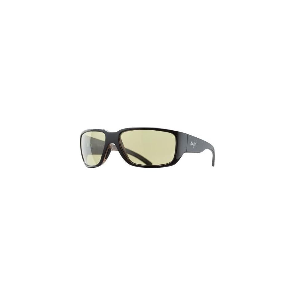 Maui Jim Seawall Sunglasses   Polarized Black Woodgrain/Maui HT, One Size   Mens
