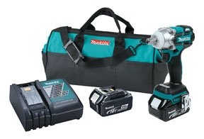 Makita XWT02M LXT Lithium Ion Brushless Cordless 3 Speed Impact Wrench Kit, 1/2-Inch (Discontinued by Manufacturer)