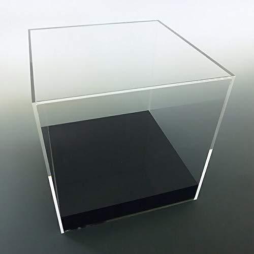 【台座 = かぶせタイプ 黒 33mm】 UVカット透明アクリルケース W450mm H300mm D200mm B01EC07AV0 W450mm H300mm D200mm  W450mm H300mm D200mm