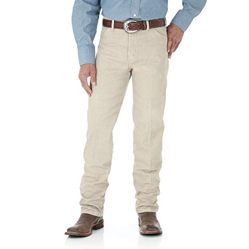 (Wrangler Men's 13MWZ Cowboy Cut Original Fit Jean, Tan, 38W x 36L)
