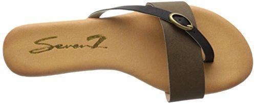 Plana Sandalia Mujer Koopie Verde para Seven7 ORZSEwxW