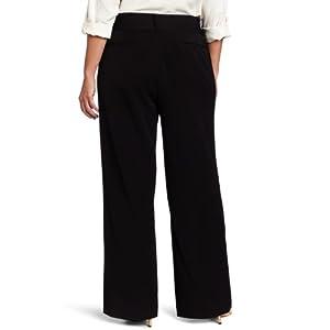 Rafaella Women's Plus-Size Curvy-Fit Gabardine Bootcut Trouser