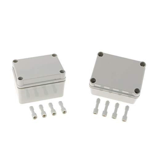 MagiDeal Caja De Conexiones De Cable De 2 Piezas Caja ABS Adaptable Plástico IP67 Exterior Impermeable 110 × 80 × 70 Mm