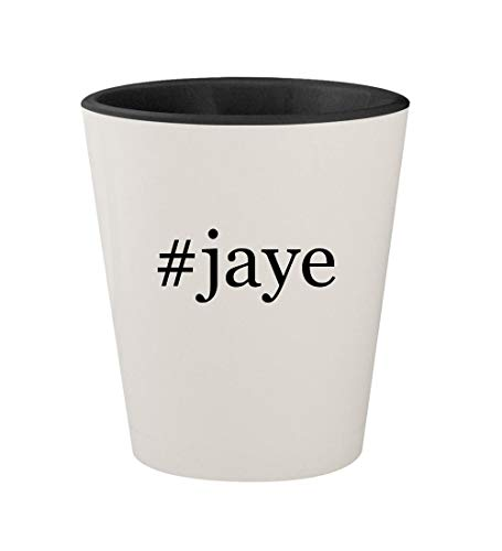 #jaye - Ceramic Hashtag White Outer & Black Inner 1.5oz Shot Glass (The Ballad Of Genesis And Lady Jaye)