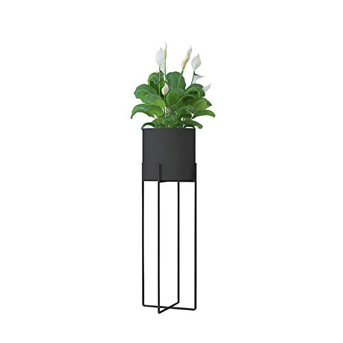 JOANNA'S HOME Metal Plants Stand Tall Indoor Outdoor Decor Plant Pot with Stand Rust Resistant Potted Flower Stands Display Rack 27 Inch - Black (Indoor Planters Metal)