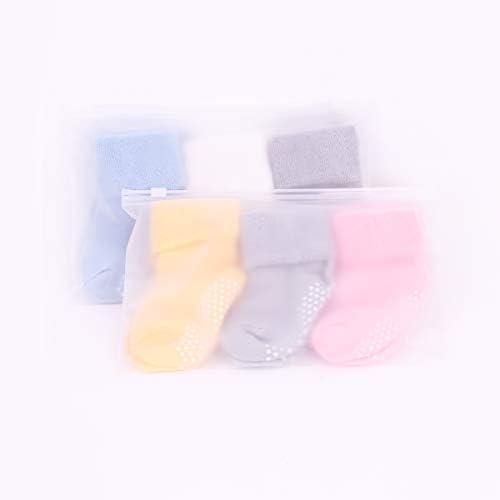 ANIMQUE 3 paia Beb/è antiscivolo calzini invernali 0-3 anni ragazze ragazzi bambino calze di cotone spesse caldo casa traspirante confortevole